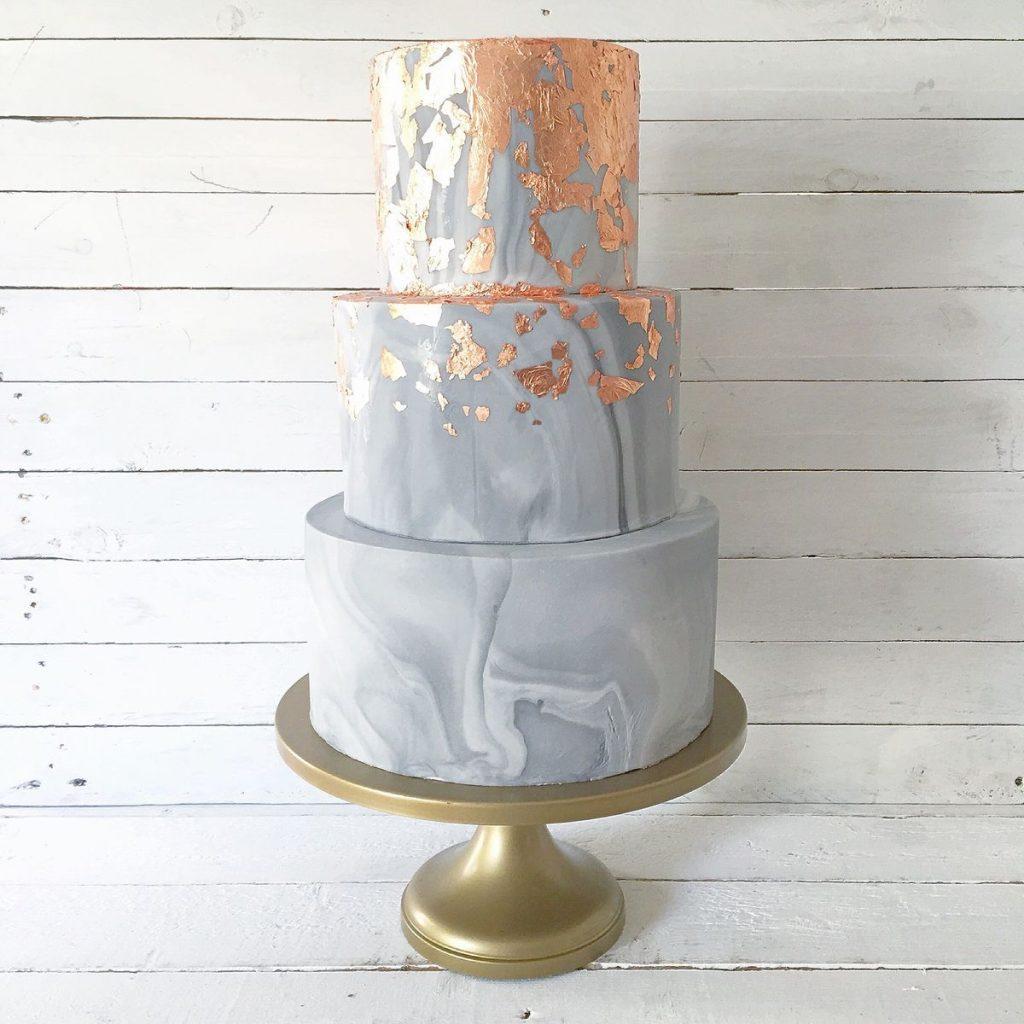 Márvány-arany torta